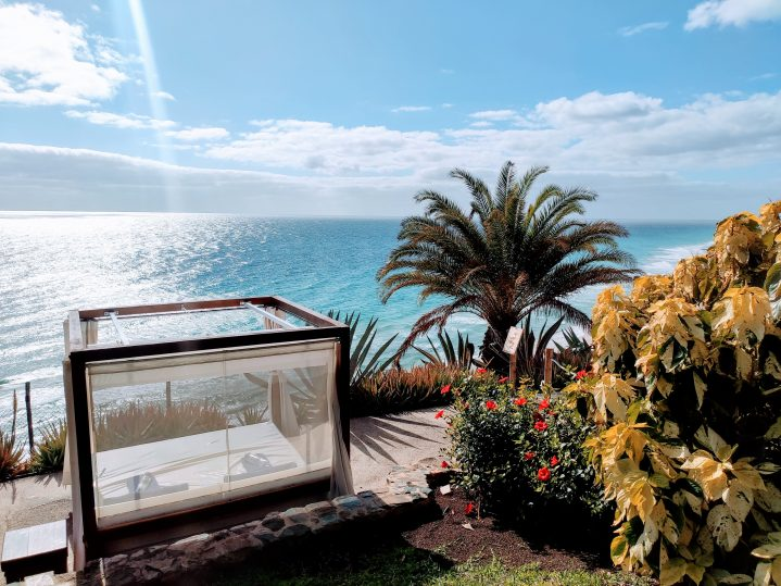 Terrasse mit Meerblick im Club Esquinzo Playa