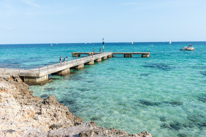 Meeresbucht in Cala Millor auf Mallorca