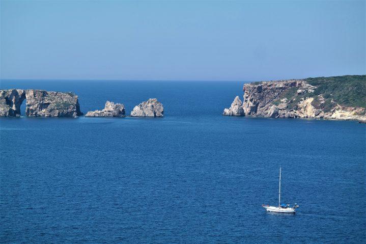 Meeresbucht bei Pylos Westpeloponnes Griechenland