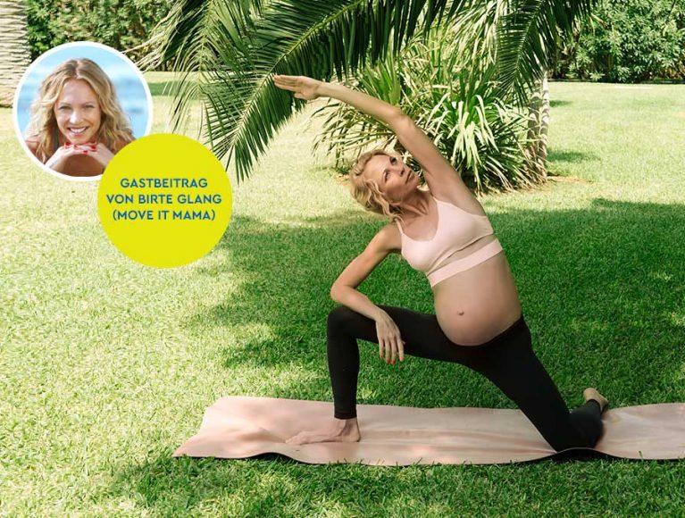 Sport in der Schwangerschaft: mit diesen 5 Übungen bleibst du fit